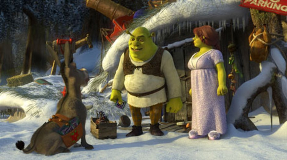 Shrek The Halls The Green Ogre Dons A Red Santa Suit Animation World Network