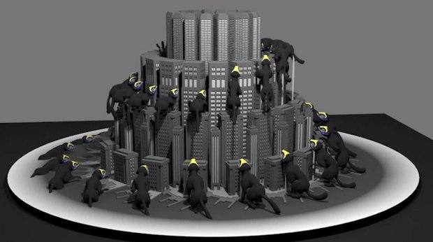 Nexus and Red Bull Create Giant 3D Stroboscope for SBTRKT