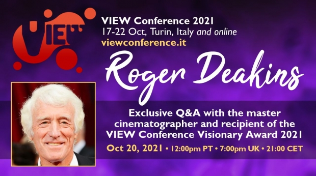 VIEW Conference 2021 to Honor Sir Roger Deakins