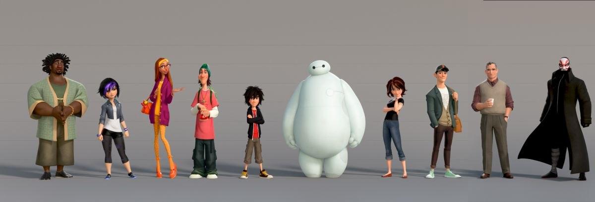Disney Heroes Drawings Disney's 'big Hero 6'