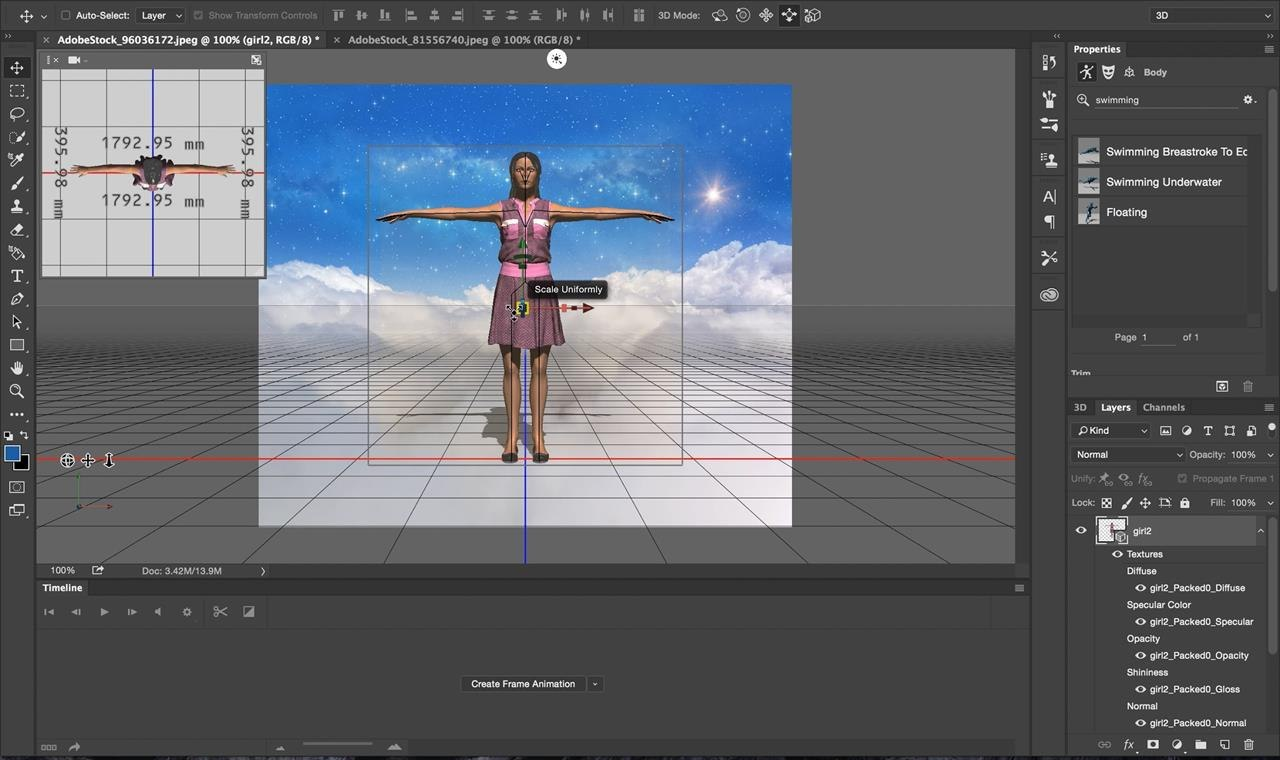 Tutorial create 3d animated gifs with adobe fuse cc and photoshop ok now im ready to bring my characters onto the canvas i did this by dragging and dropping the fuse character from my library on top of the cloud baditri Image collections