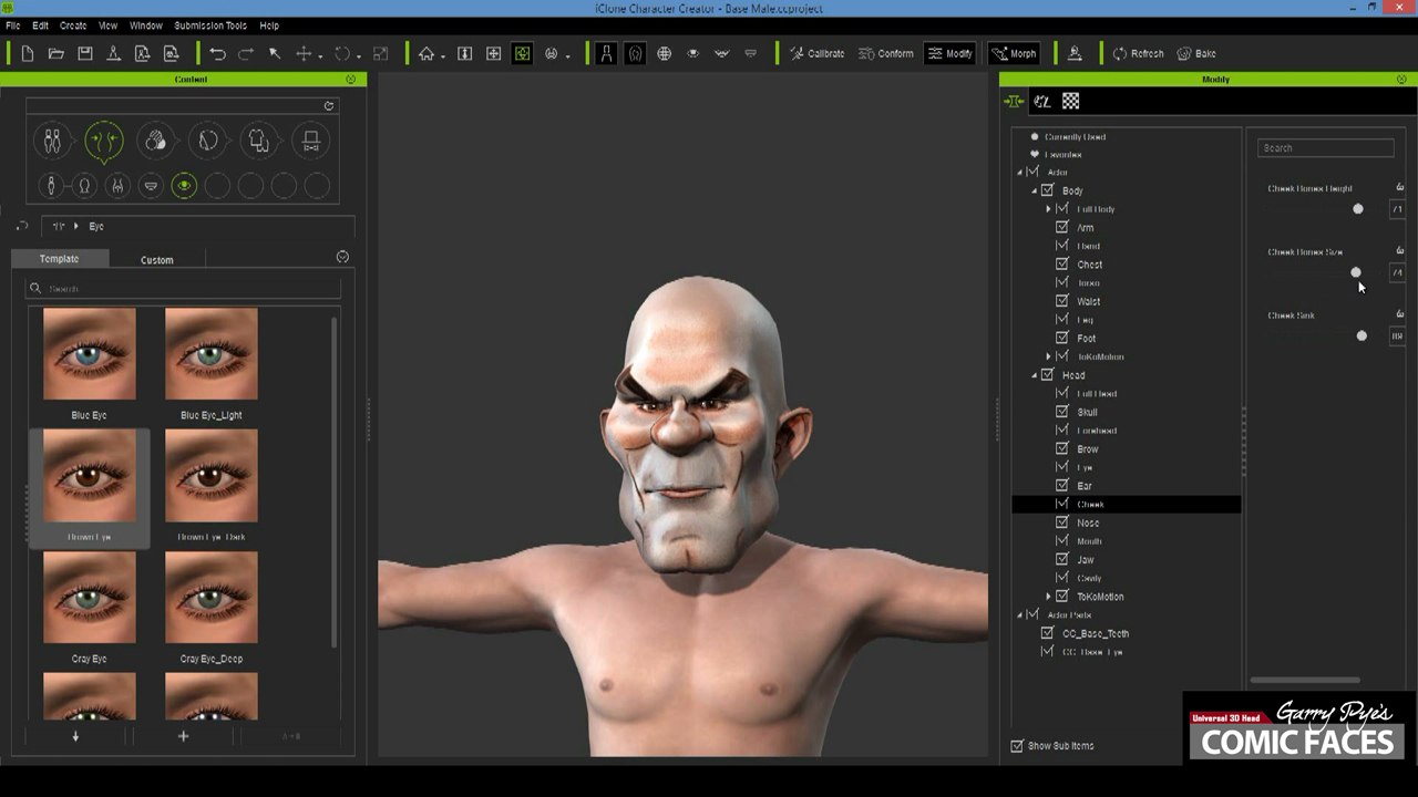 Tutorial take sketches to finished 3d characters with iclone step 3 use character creator morph sliders to custom face and body appearance maxwellsz