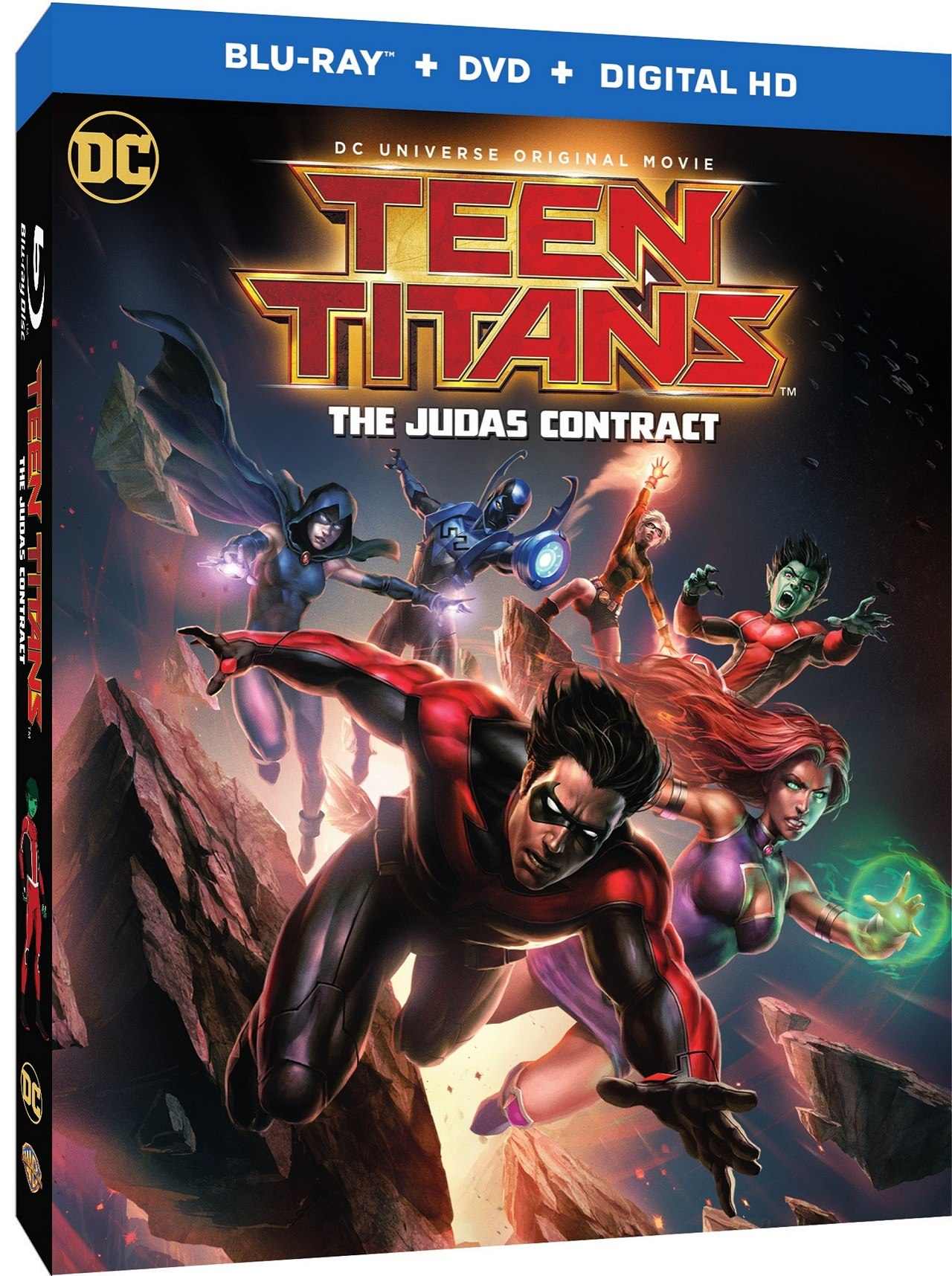 The landmark Teen Titans story will be available on Blu-ray Deluxe Giftset,  Blu-ray Combo Pack and DVD starting April 18, 2017.