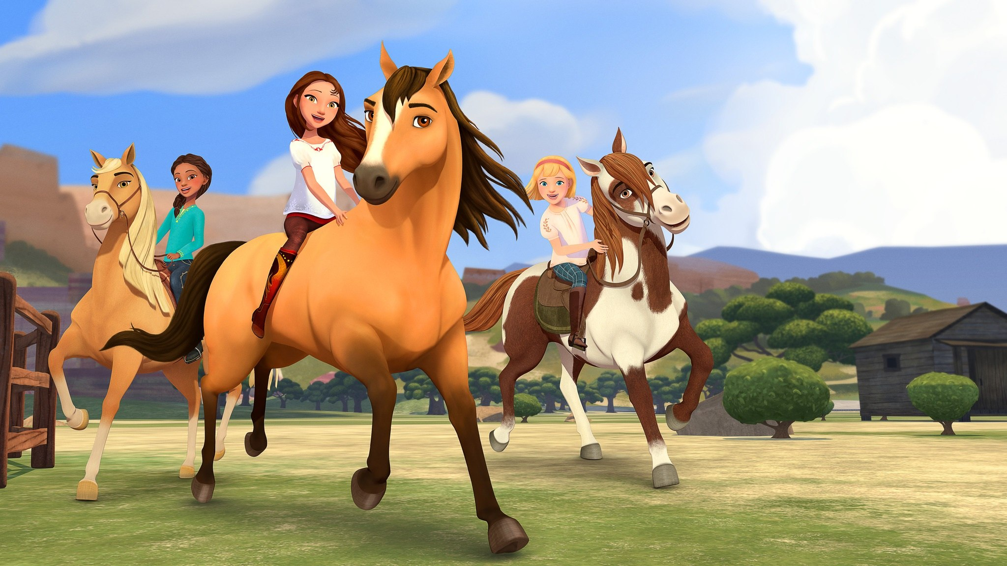 First Look Dreamworks Animation S Spirit Riding Free