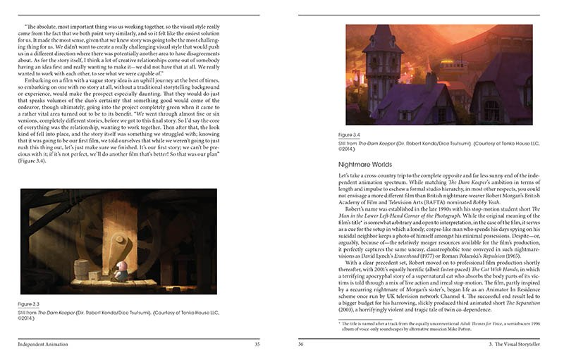 book review independent animation developing producing and  sample page