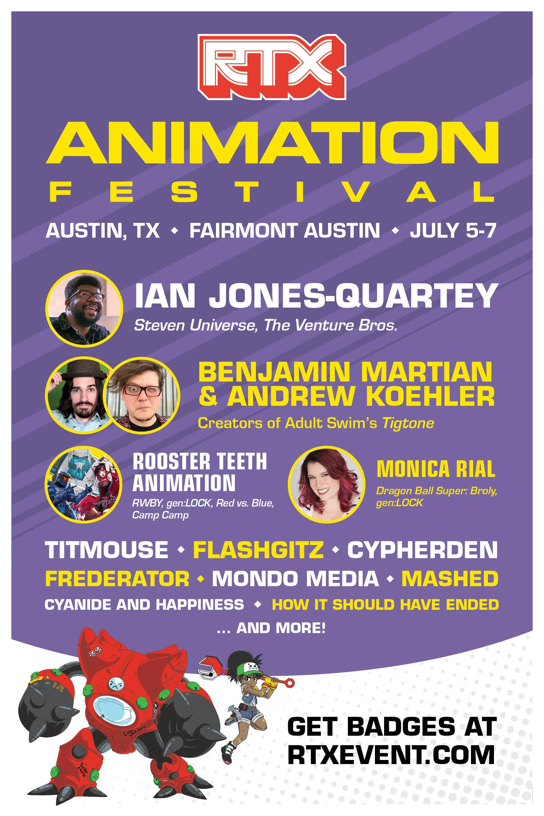RTX Animation Festival Announces Initial 2019 Lineup