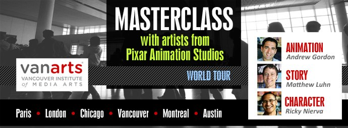 Story, Character & Animation Masterclass - London