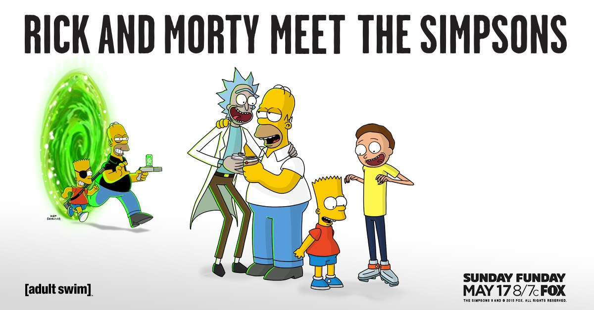 watch rick and morty invades the simpsons season finale