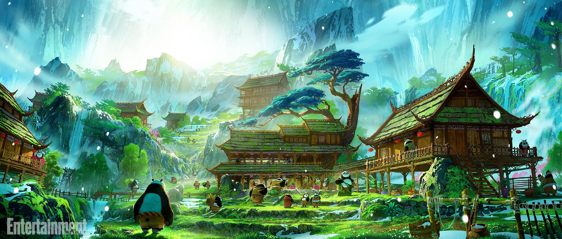 Look dreamworks animation releases kung fu panda 3 for Wallpaper home animation