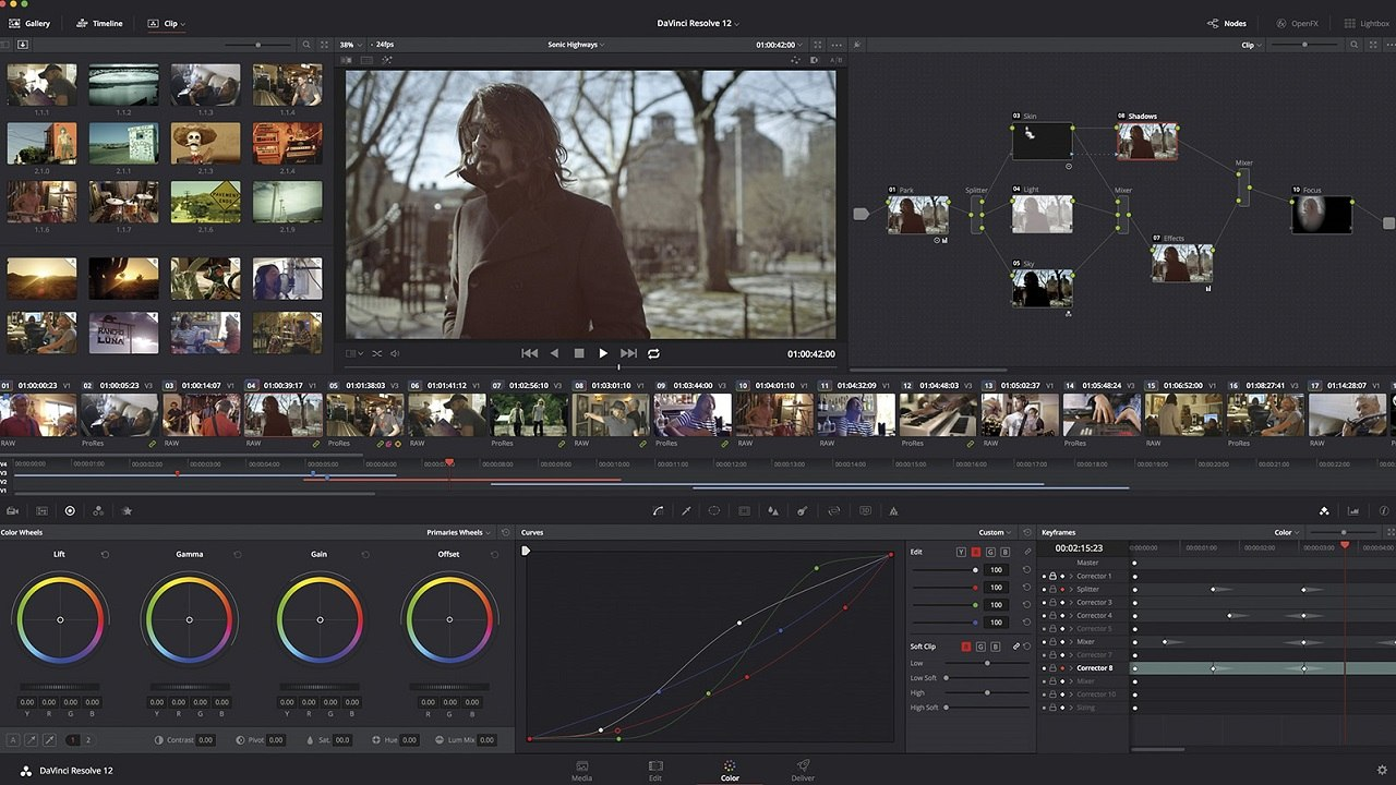 Professional video editing with the world`s most advanced color corrector