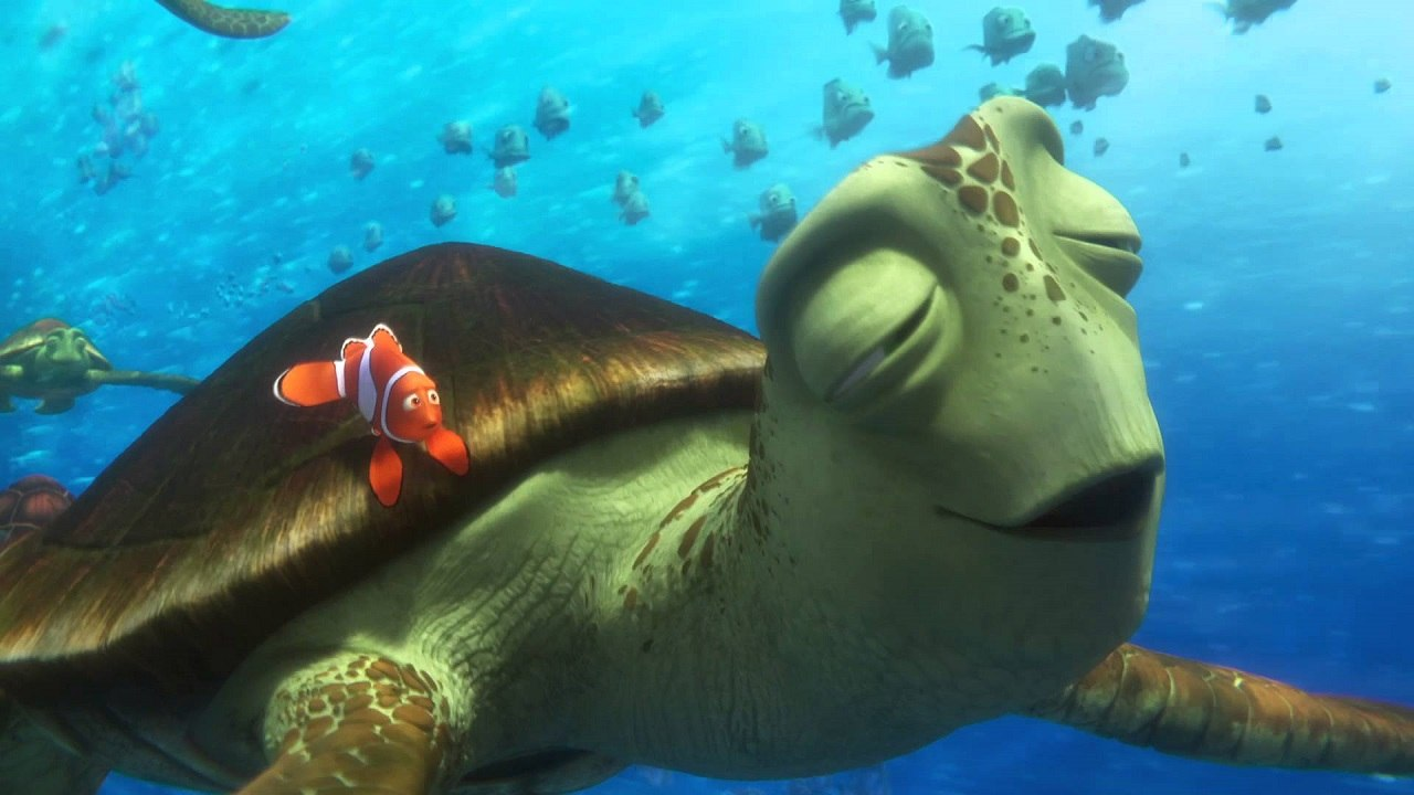 Director Andrew Stanton Voices Sea Turtle Crush In Disney Pixars Finding Dory