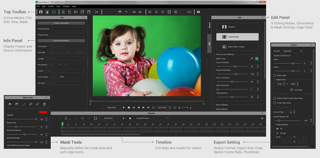 New Reallusion popVideo 3 Provides Smart Chroma Key for Real-Time 3D