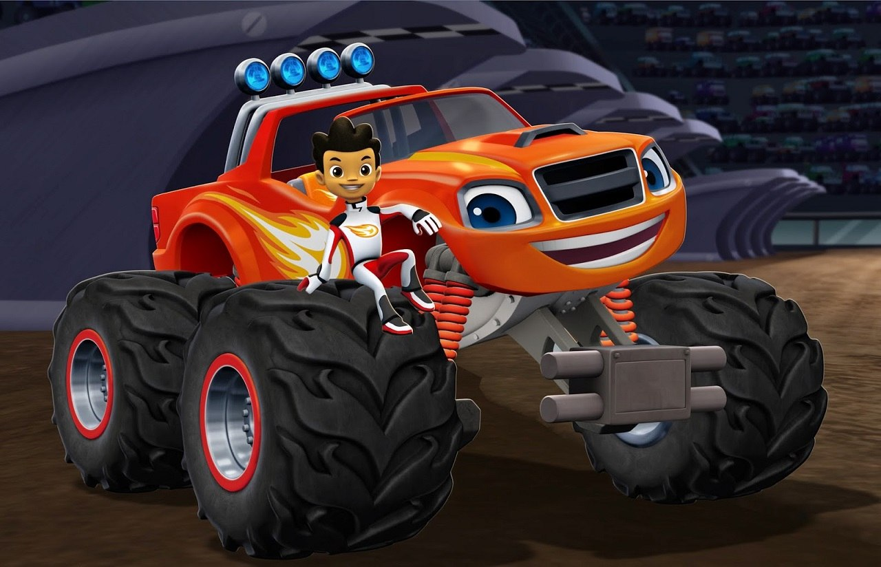 Blaze and the monster machines teaming with nascar stars for Blaze cartoni