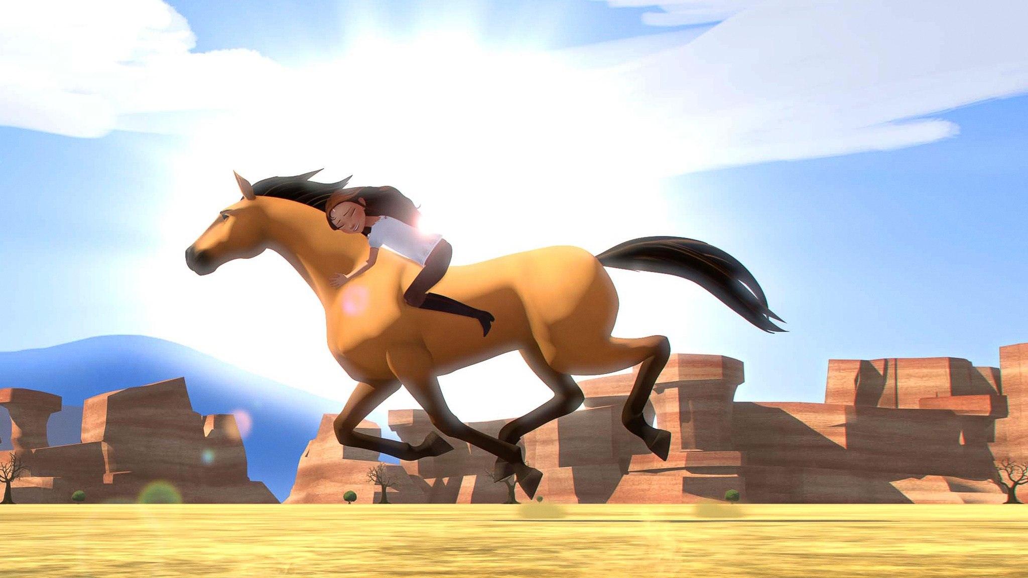 Znalezione obrazy dla zapytania spirit riding free