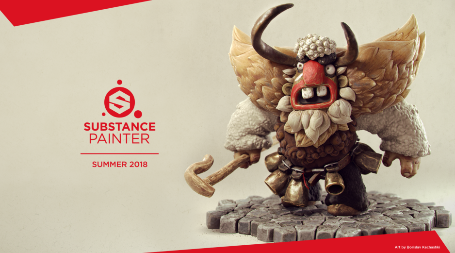 Substance Painter Adds Subsurface Scattering for More Realistic