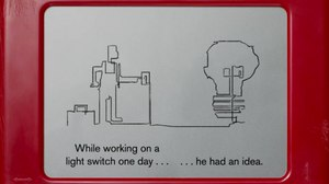 Animated Short About Etch A Sketch Inventor Made on Actual Etch A Sketch