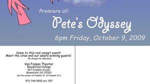 PETE'S ODYSSEY PREMIERE ON FRIDAY, OCT. 9TH at 6:00 pm