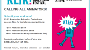 Call for Animation - KLIK 2014 and Animatiedagen 2014