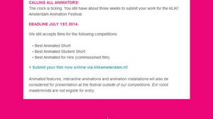 KLIK! Amsterdam Animation Festival - Call for entries