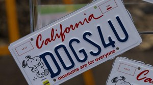 New California License Plate to Feature Snoopy