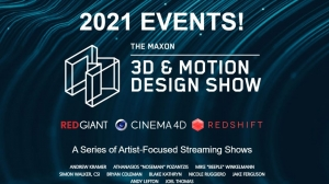 Maxon Reveals 2021 Event Lineup – First '3D & Motion Design Show' Set for March 17