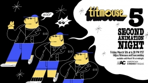 Titmouse's Virtual '5 Second Animation Night' Screening Begins March 5