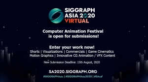 Entry Deadline Extended for SIGGRAPH Asia 2020 Computer Animation Festival