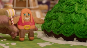 'Clash of Clans' Stop-Motion 'Merry Logmas' Features U.K. Bake-Off Queen Prue Leith