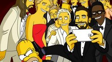 'The Simpsons' Celebrate the Oscars with a Selfie