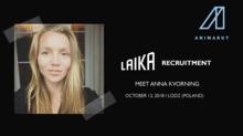 LAIKA recruiting animators and costume makers at Animarkt 2018