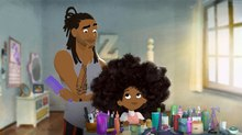 A Father and Daughter Bond Over Hairstyling in 'Hair Love'
