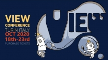 VIEW 2020 Set for October 18 – 23 in Turin, Italy