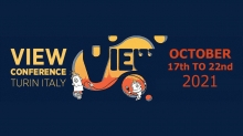VIEW 2021 in Turin, Italy and Online October 17-22
