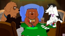 HAVE A LAUGH: Denis Leary's 'Dogs Playing Poker' 2D Short