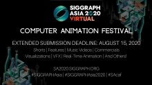 August 15 Entry Deadline Almost Here for SIGGRAPH Asia 2020 Computer Animation Festival