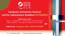 Entry Deadline Extended for SIGGRAPH Asia 2021 Computer Animation Festival